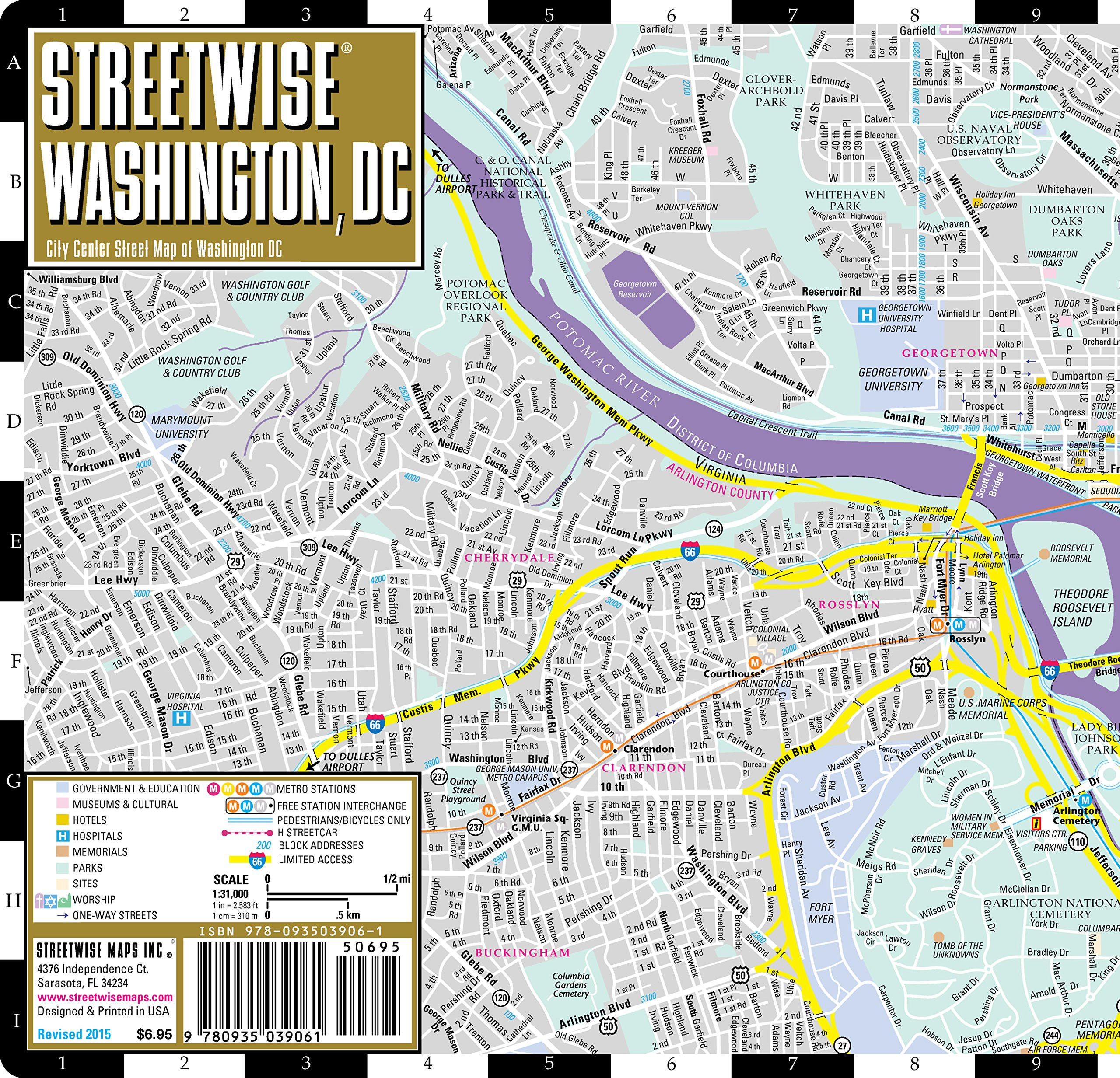 Printable Map Washington Dc Beautiful Streetwise Washington Dc Map Laminated City Center Street Map Of