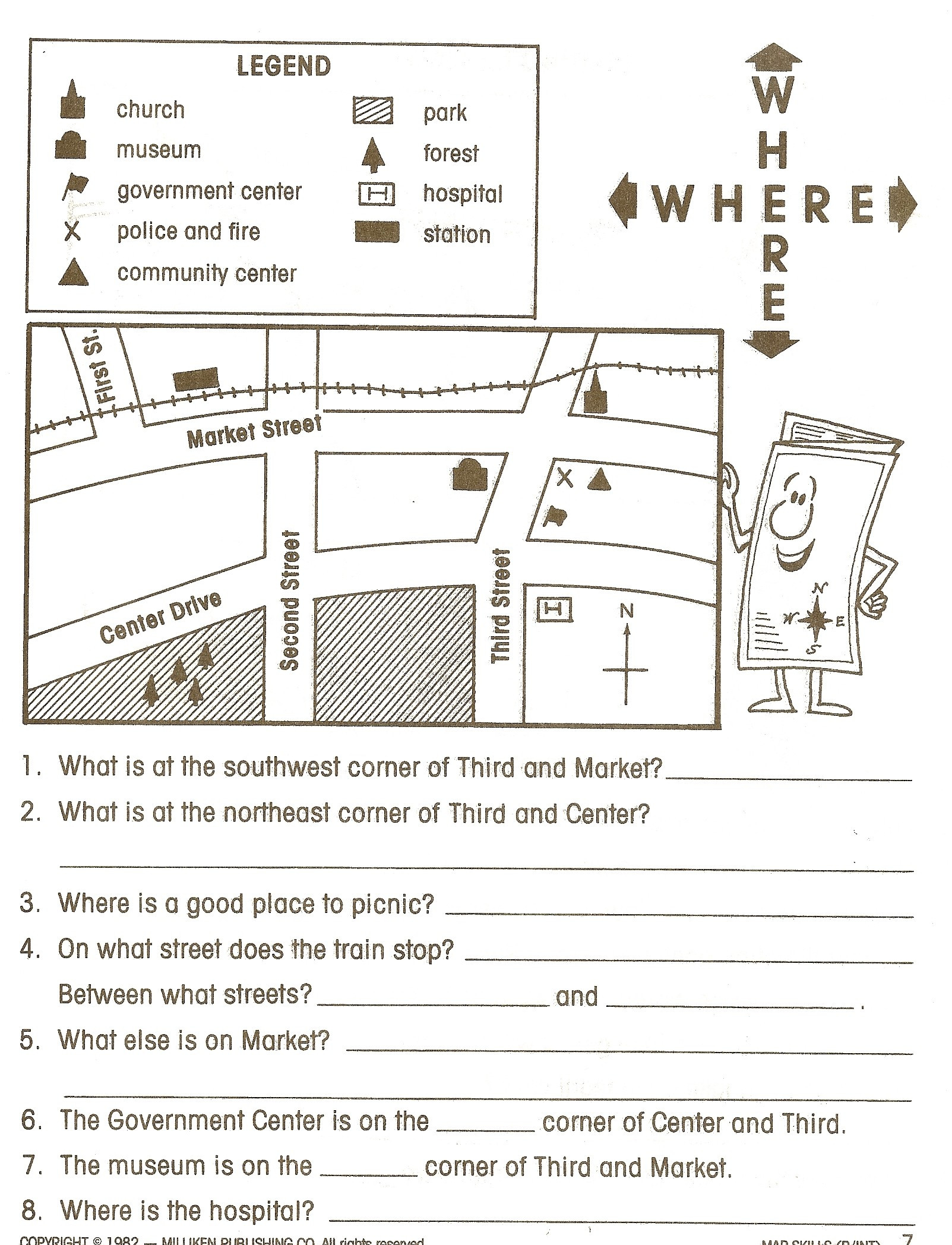 Printable Map Worksheets For 4th Grade Best Of Map Worksheet 6th Grade Valid Kindergarten Map Worksheets Free