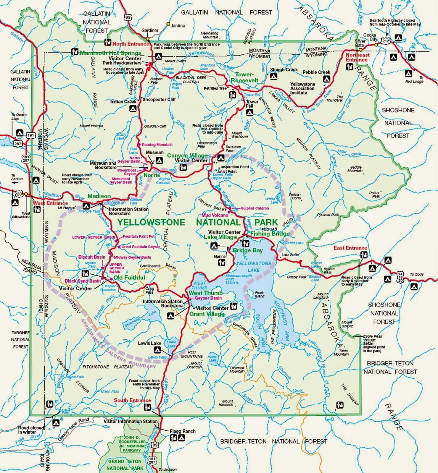 Printable Map Yellowstone National Park Unique Yellowstone Map With Driving Times 4k