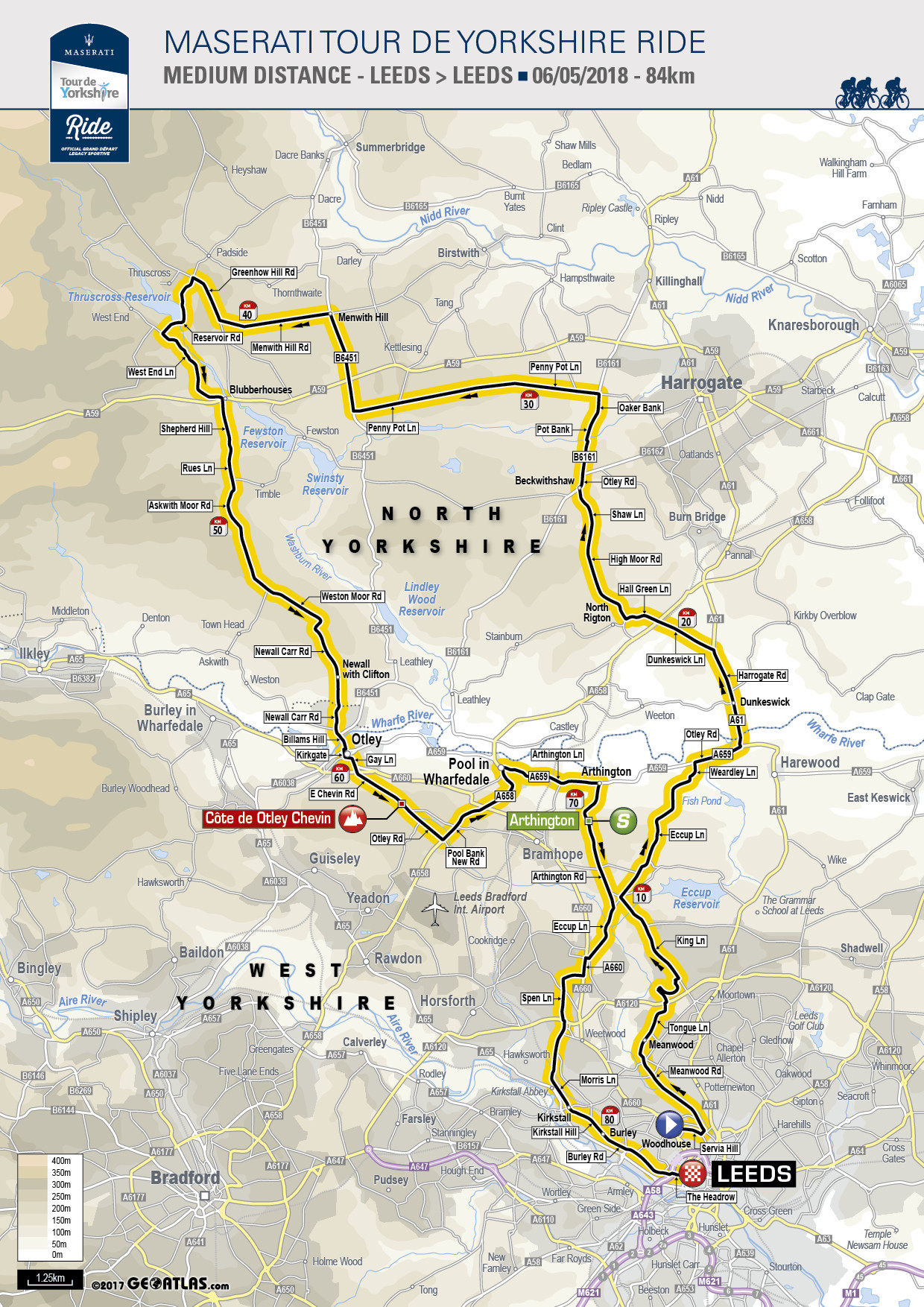 Printable Map Yorkshire Best Of Tour De Yorkshire Ride