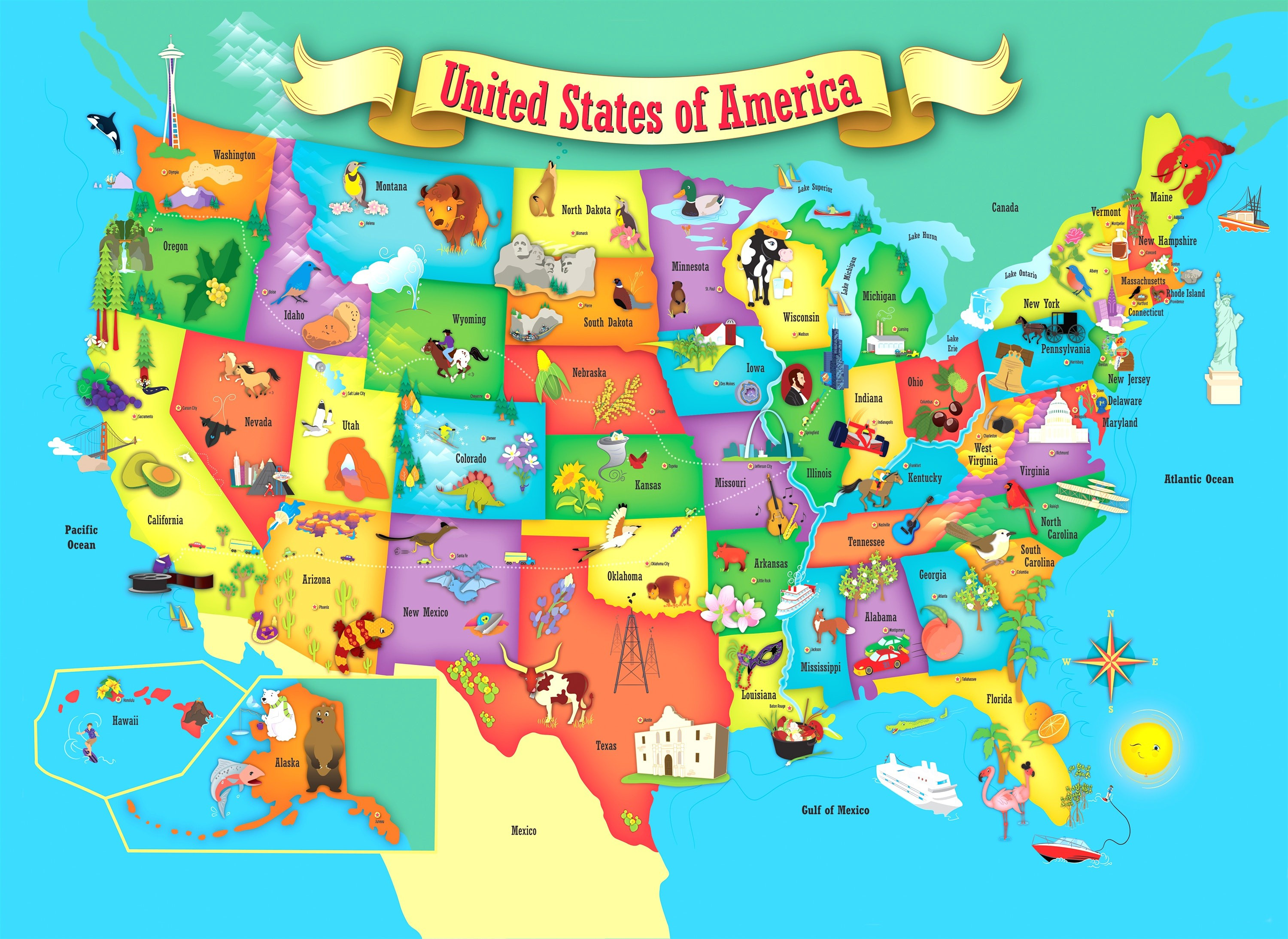 Printable Puzzle Map Of The United States Elegant Printable Map Us And Canada Printable Map Usa United States