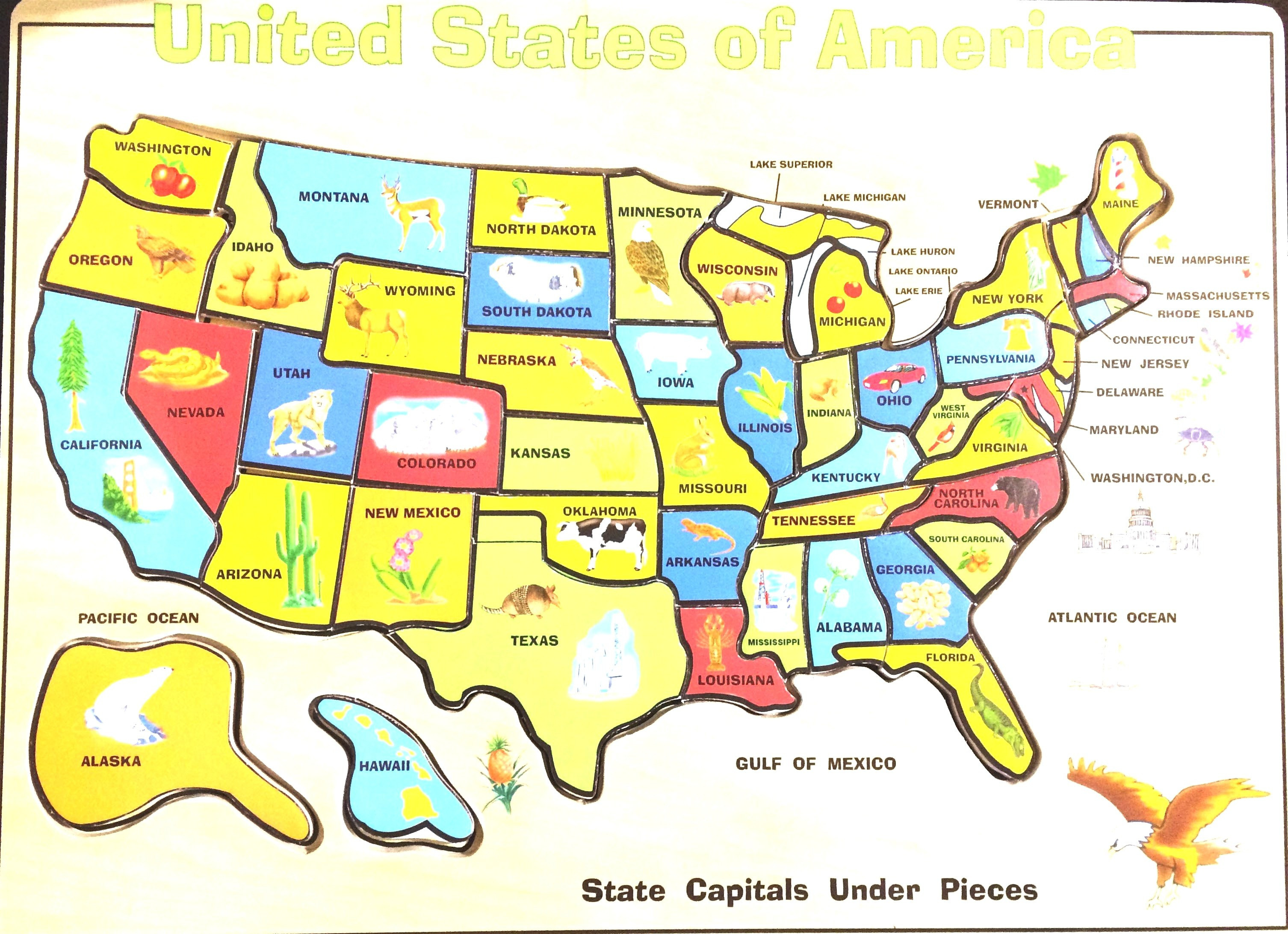 United States Map Puzzle Printable List Map Us Printable for Kids