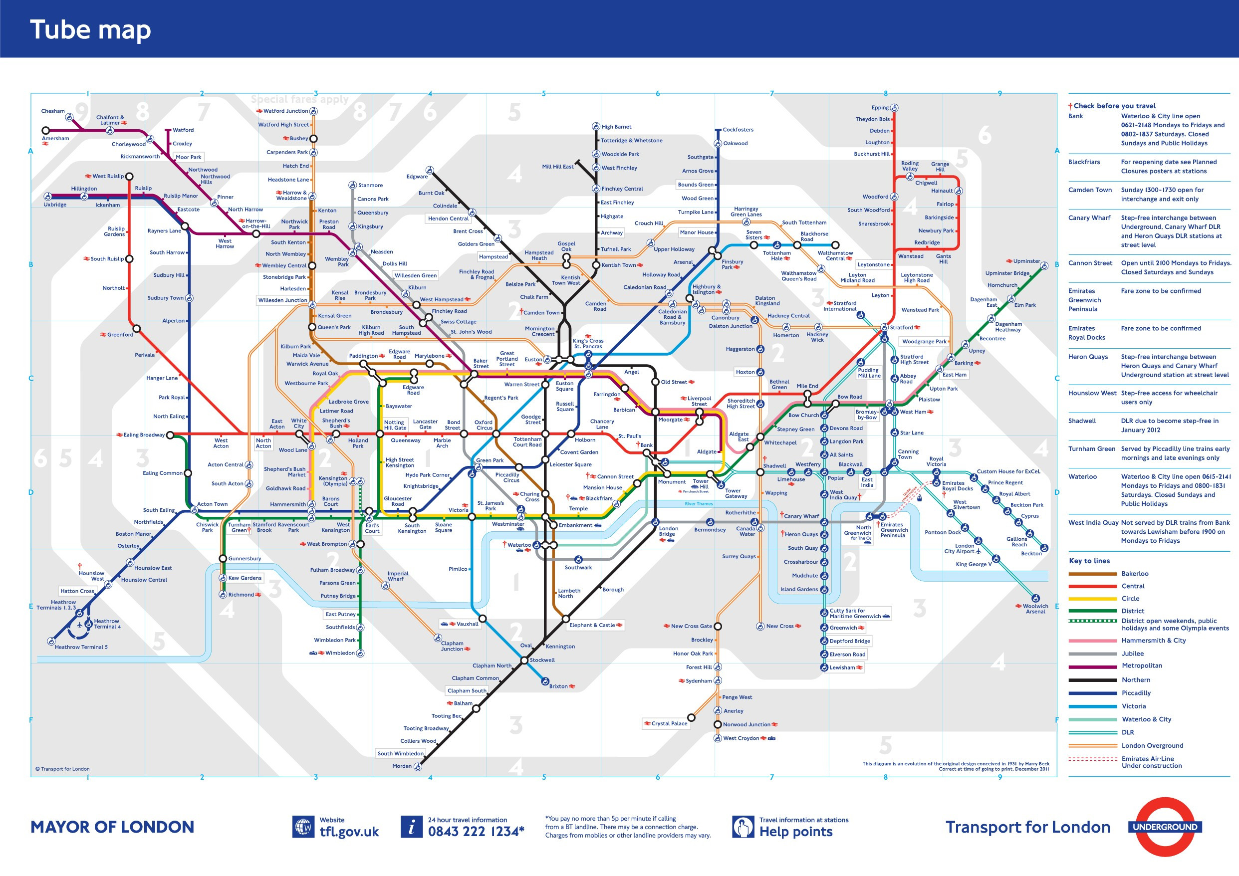 Printable Tube Map 2014 New London Tube Map Map Shaquille Oneal