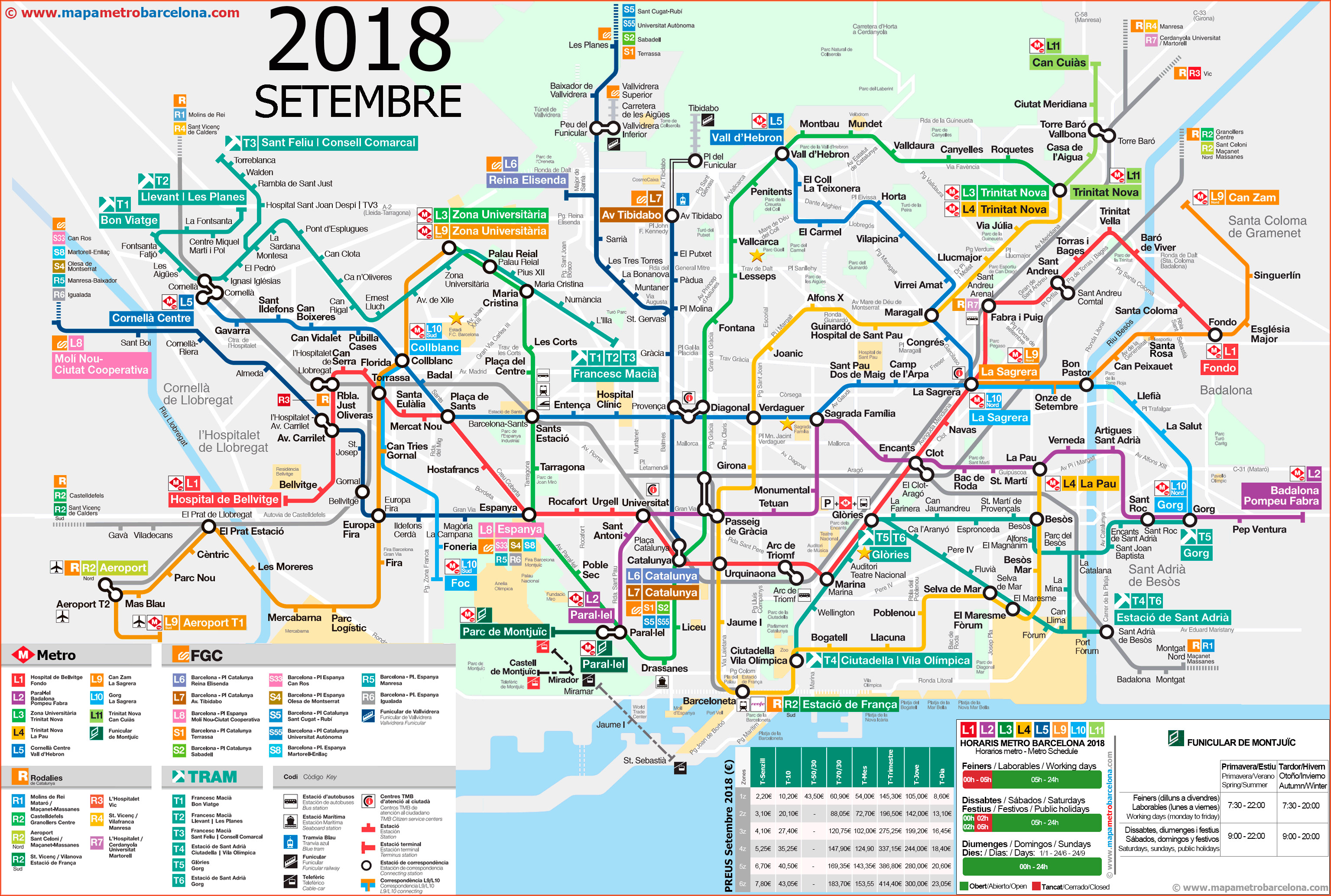 Metro map of Barcelona 2018 the best