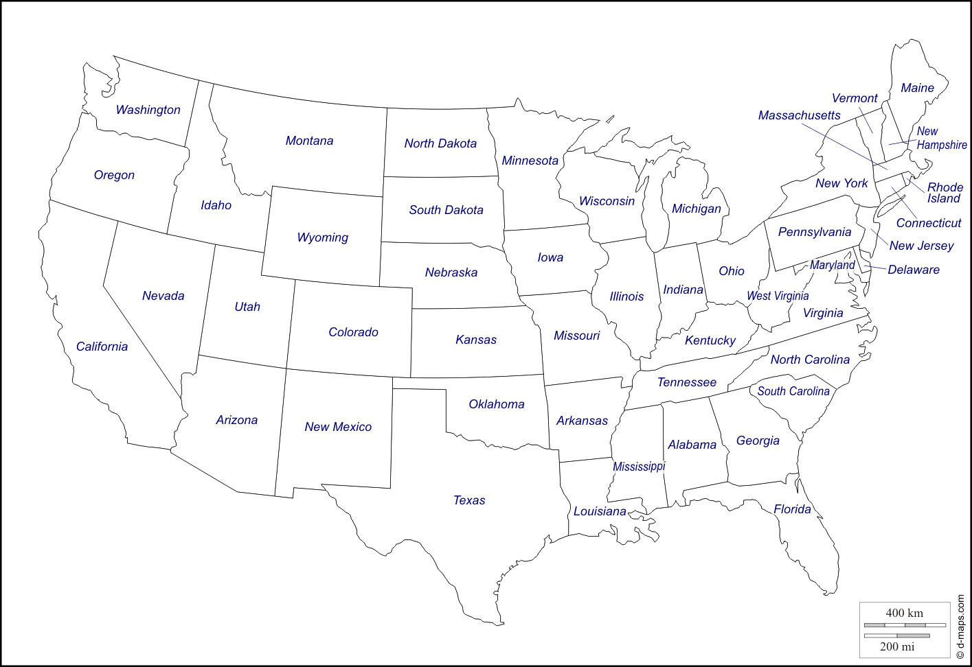 Us Map State Names Printable Nightcap With Without