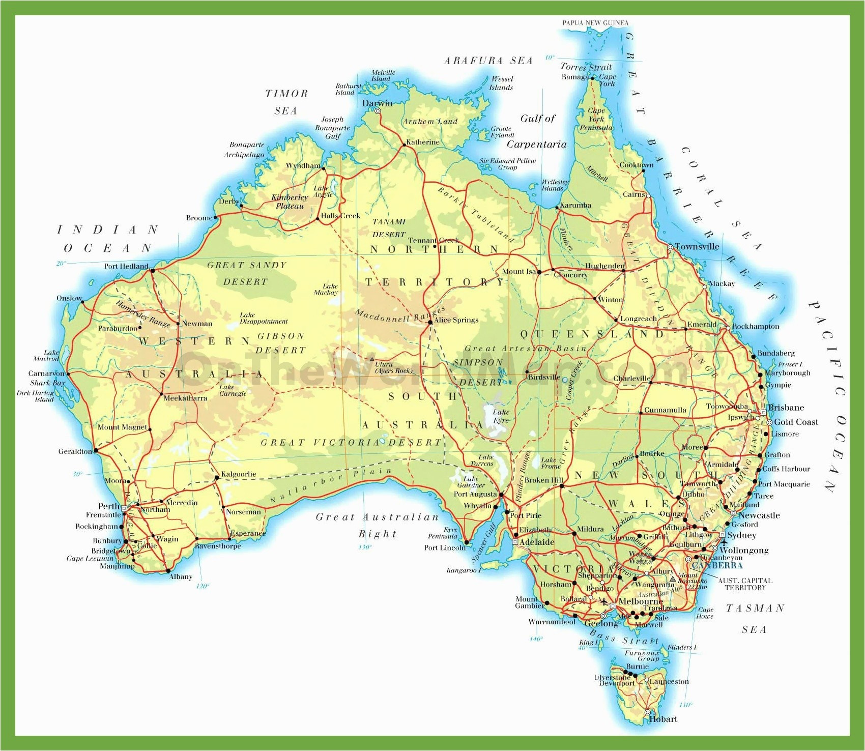 Printable U.s. Road Map Awesome Stock Australia Map Outline With States – Map New Zealand And