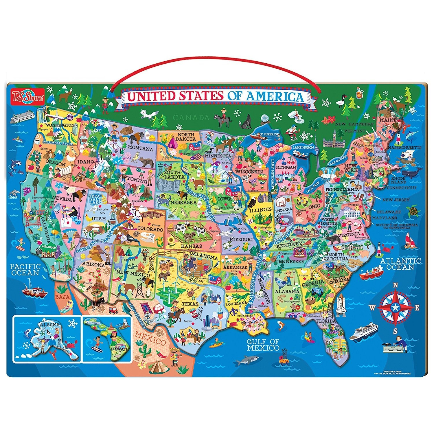 Puzzle Maps The United States Inspirationa Wooden Usa Puzzle