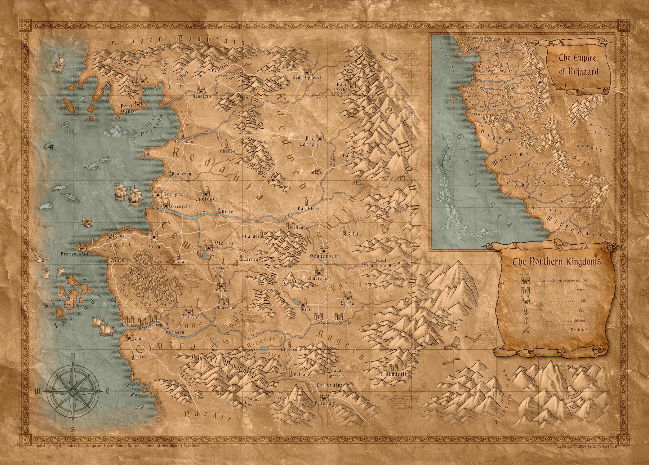 Printable Witcher 3 Map Awesome is there A Plete Map Of the World Of the Witcher E that Shows