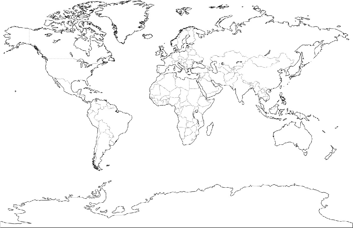 Printable World Map 4 Pages New Unique World Map For Kids Coloring Page