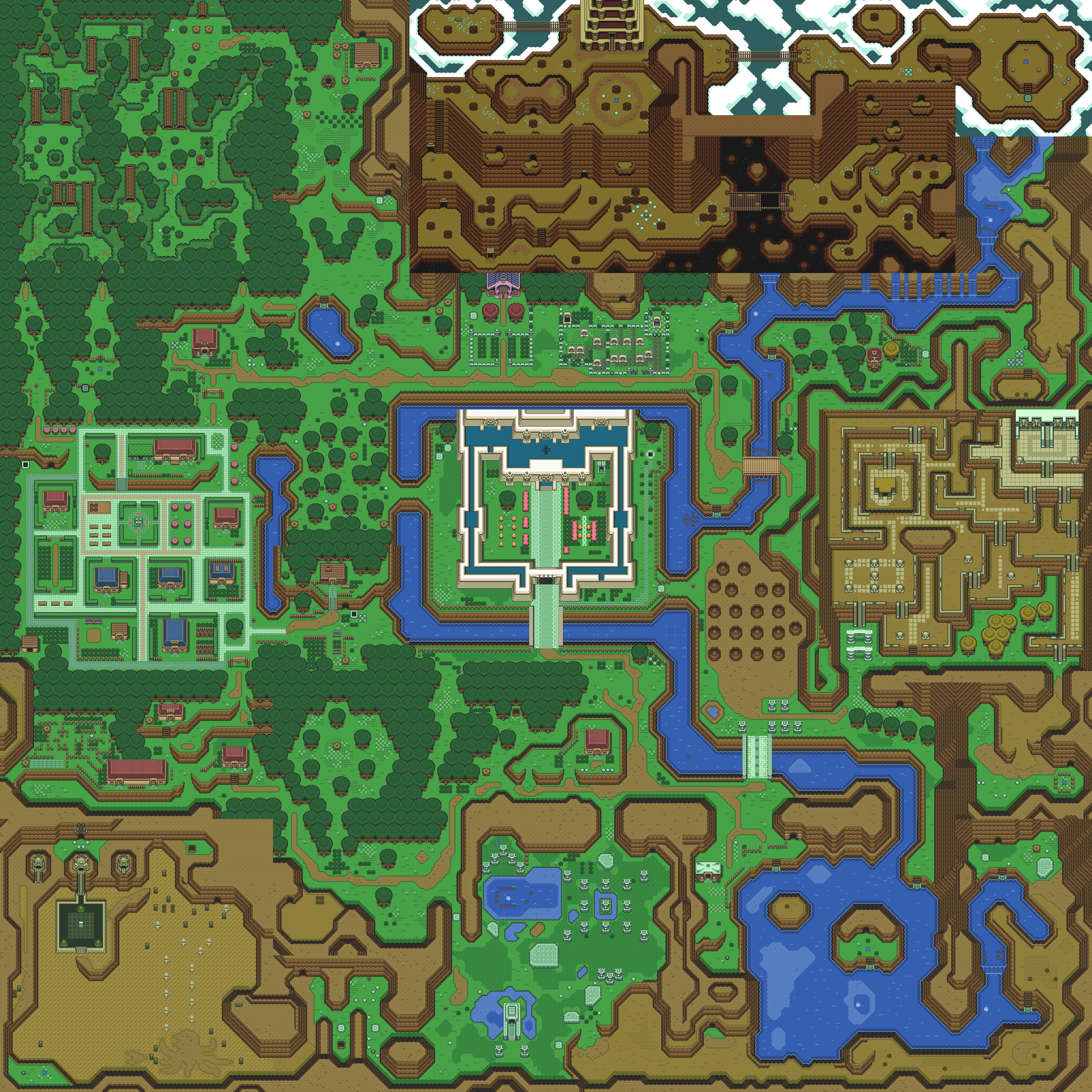 Printable Zelda Map Awesome The Legend Of Zelda A Link To The Past Maps