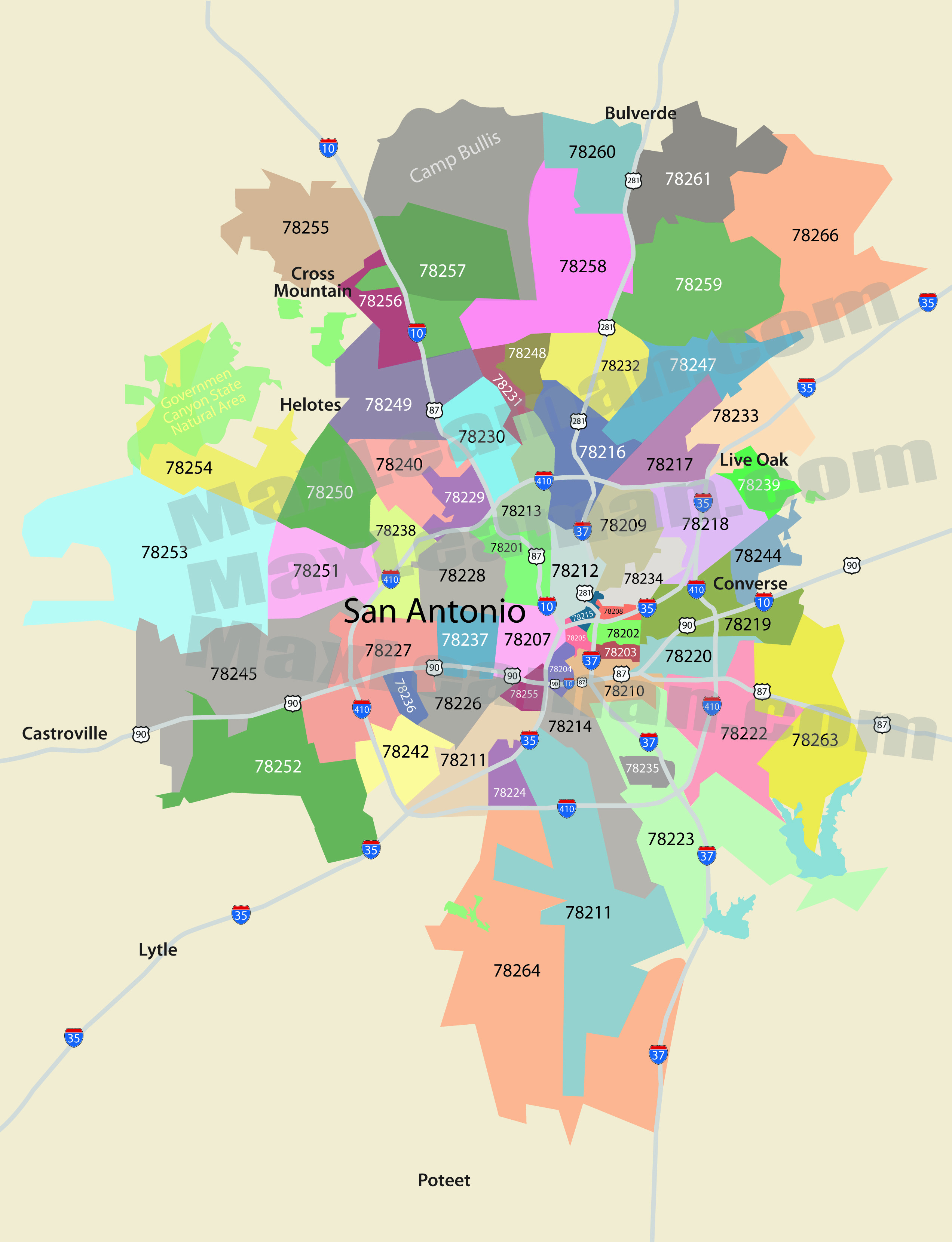 Printable Zip Code Map Beautiful San Antonio Zip Code Map Zipcode Map Of San Antonio Texas