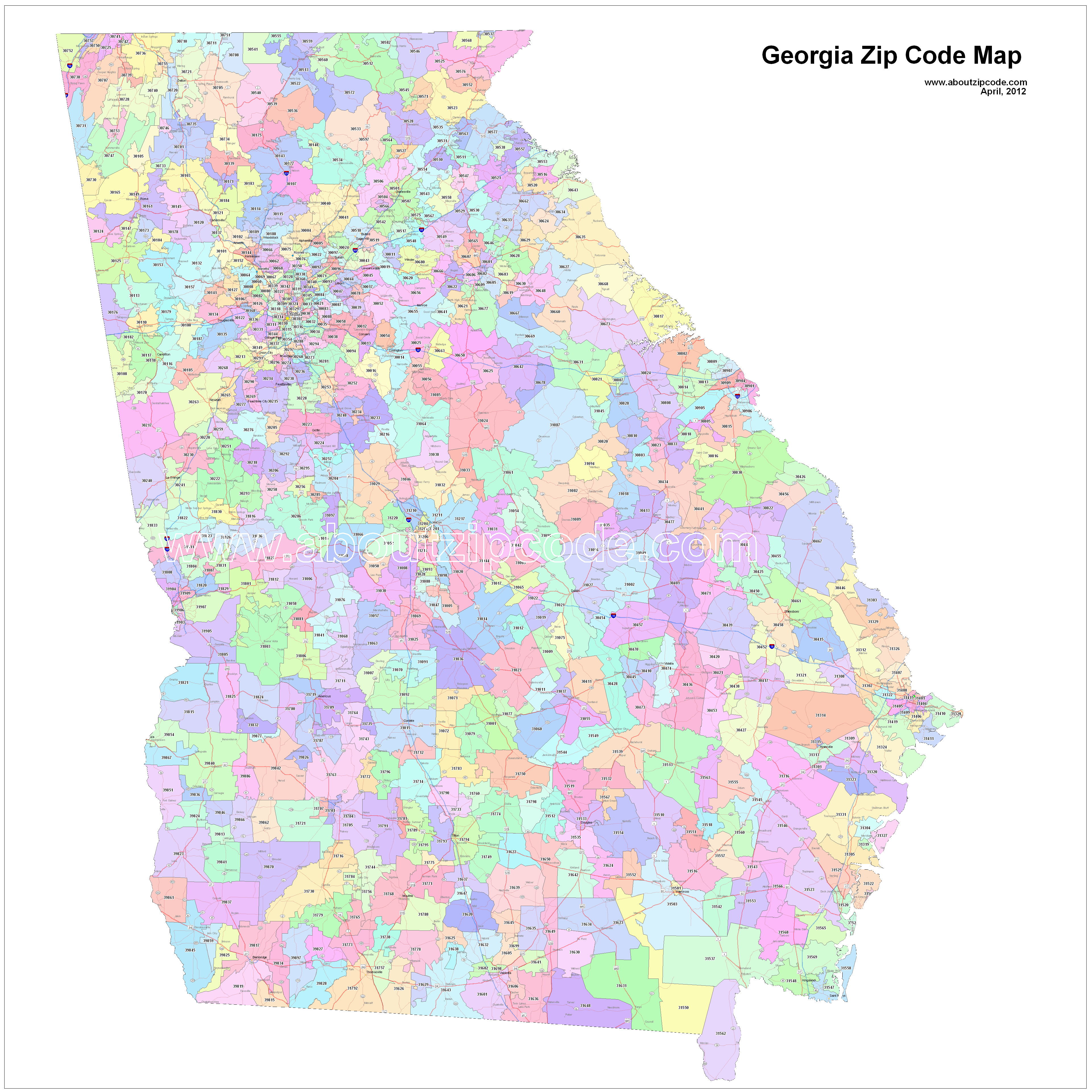 Printable Zip Code Map Best Of Georgia Zip Code Maps Free Georgia Zip Code Maps