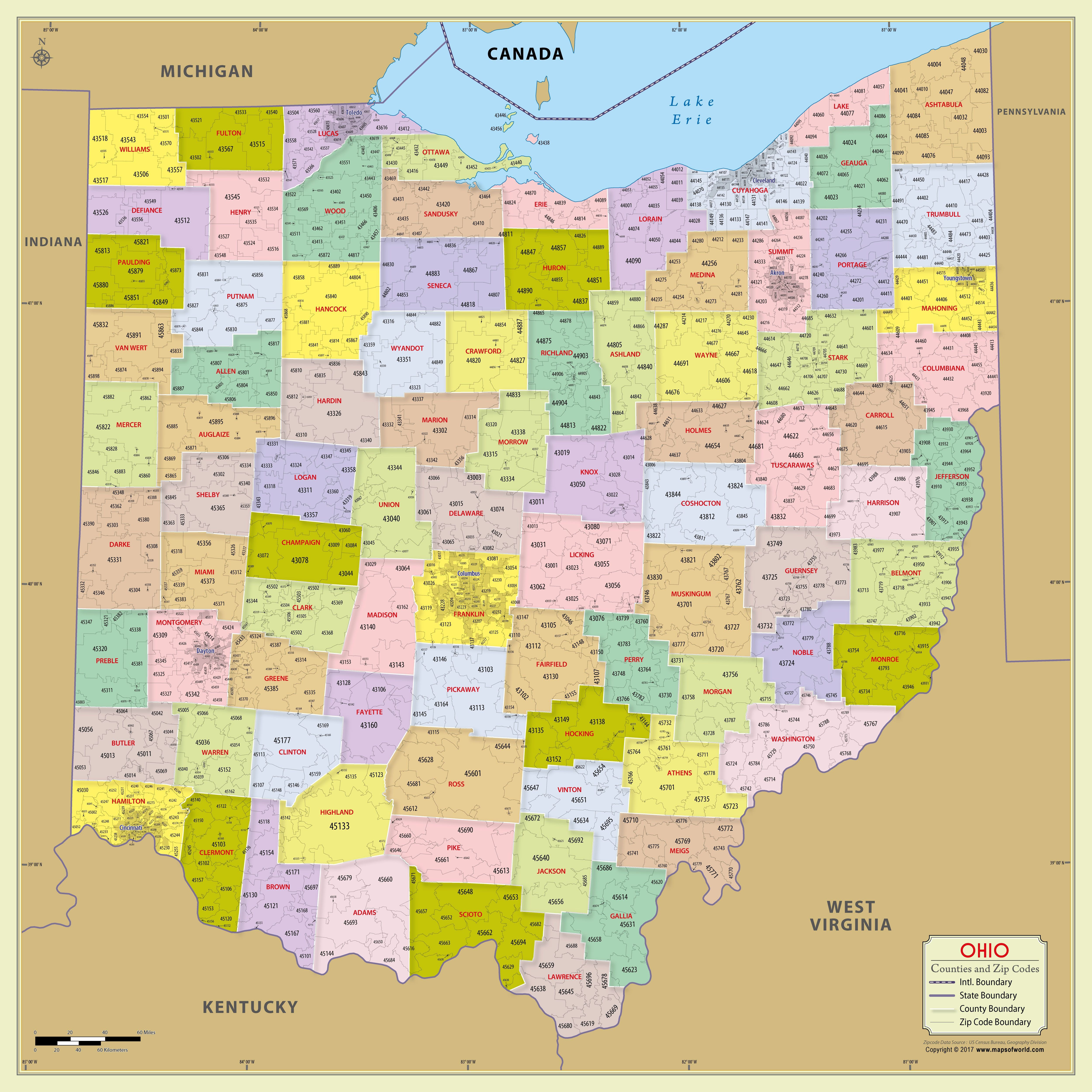 Printable Zip Code Map Inspirational Zip Code Map United States Refrence Buy Ohio Zip Code Map With