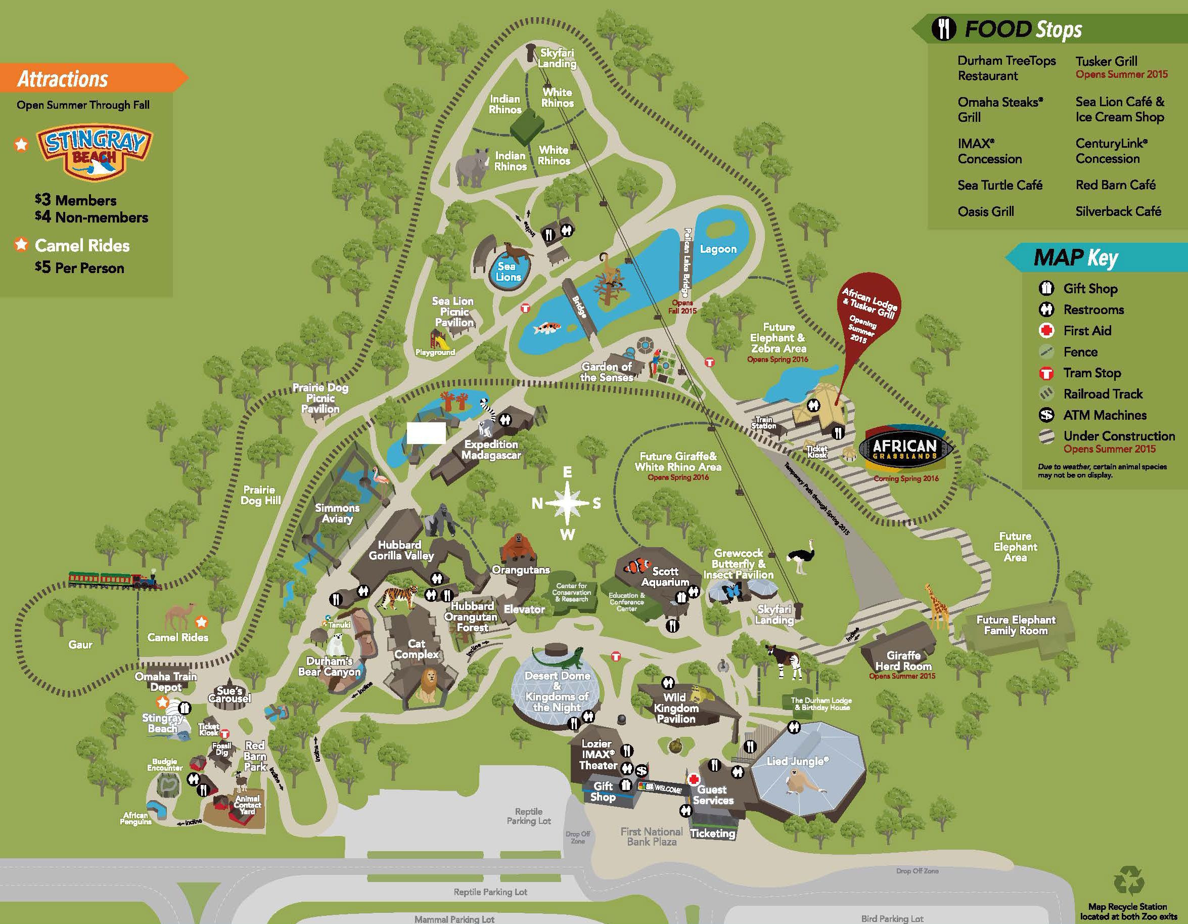 Zoo Map Omaha s Henry Doorly Zoo Entertainment in Omaha
