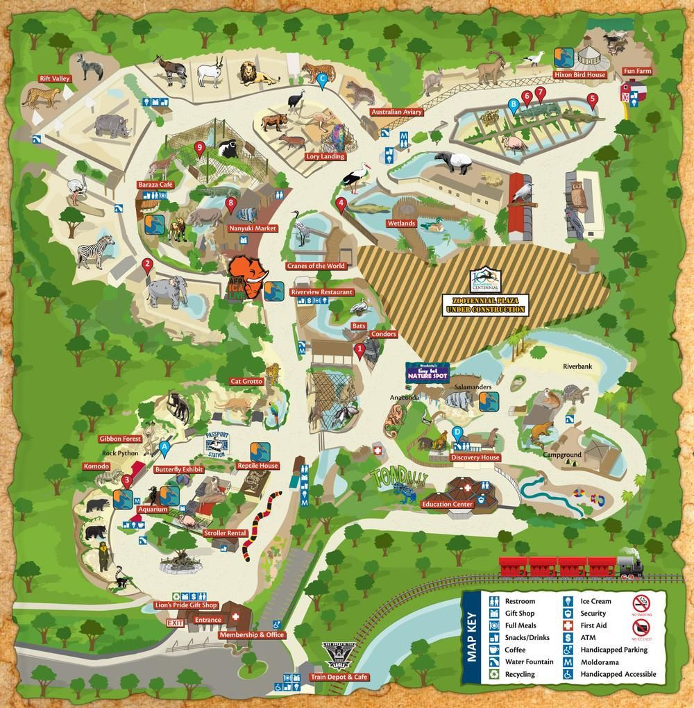 Map of San Antonio Attractions