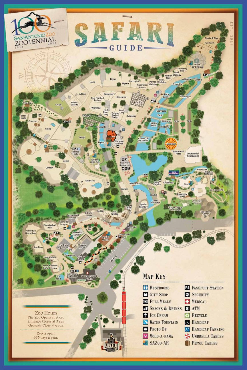 San Antonio Zoo Zoo map Favorite Places & Spaces