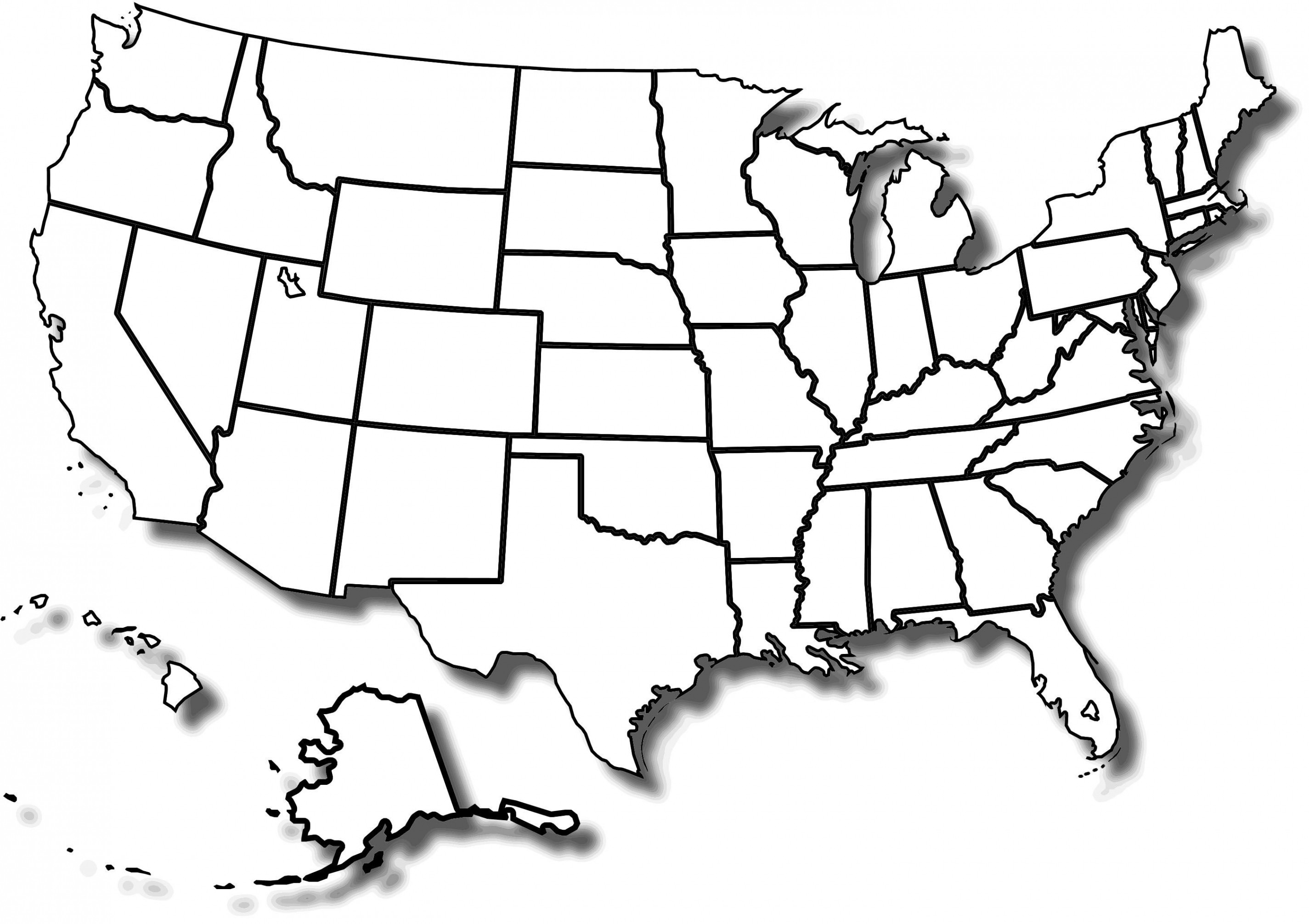 U.s. Map Printable Free Beautiful Awesome Uinited States Map — Little Thinker