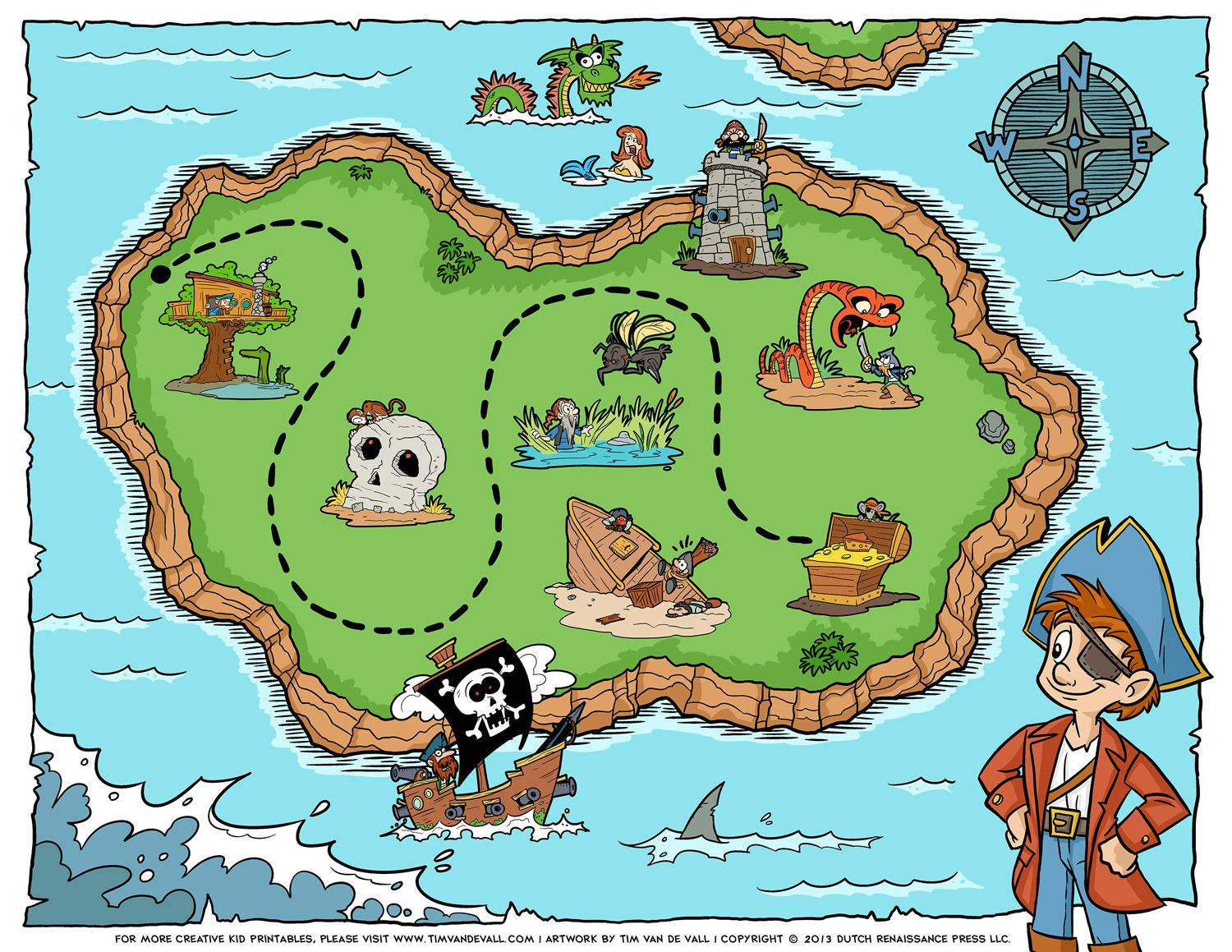 Wet N Wild Printable Map New Free Pirate Treasure Maps And Party Favors For A Pirate Birthday