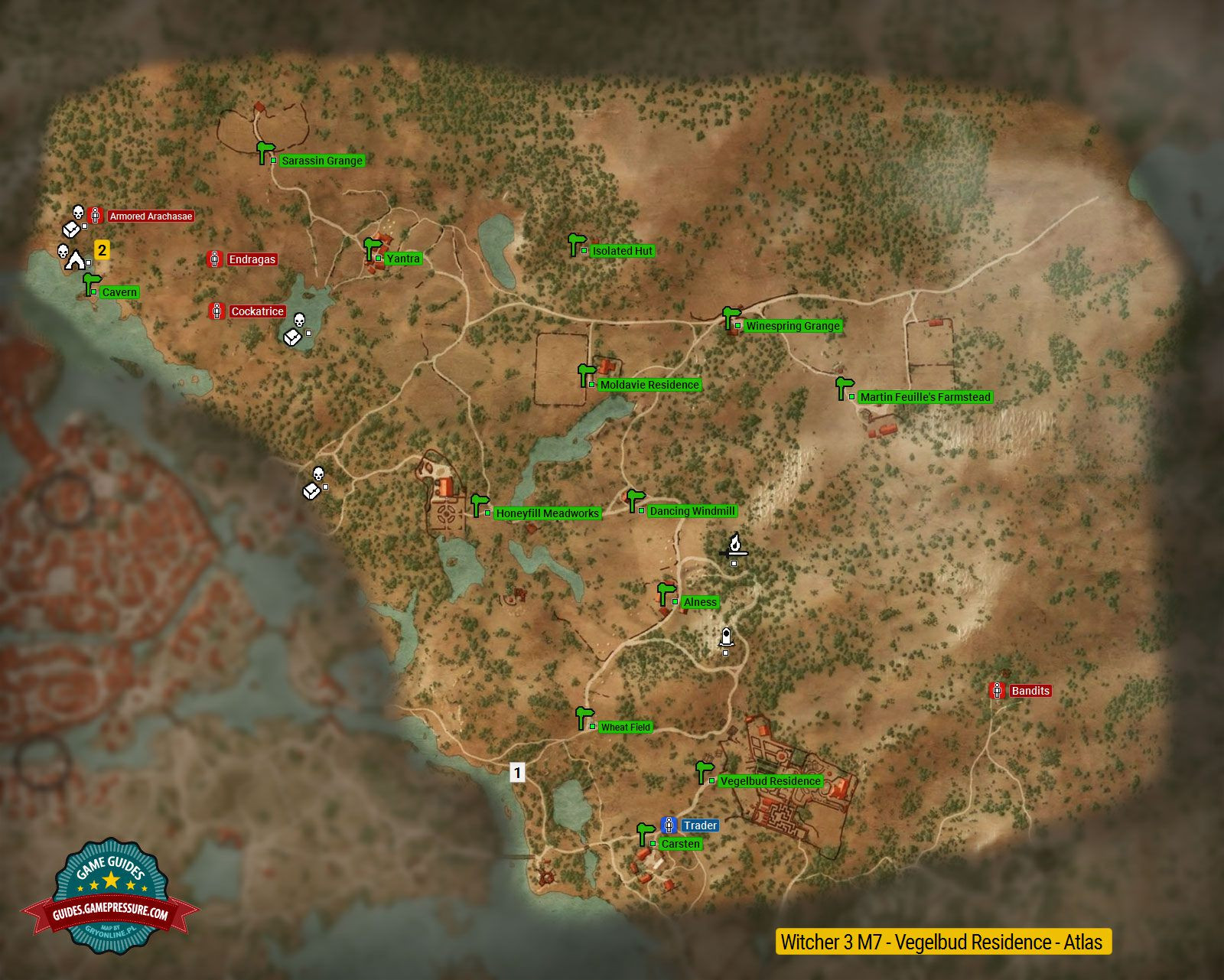 Witcher 3 Printable Maps Lovely Map Of Important Locations In Vegelbud Residence M7 the Witcher 3