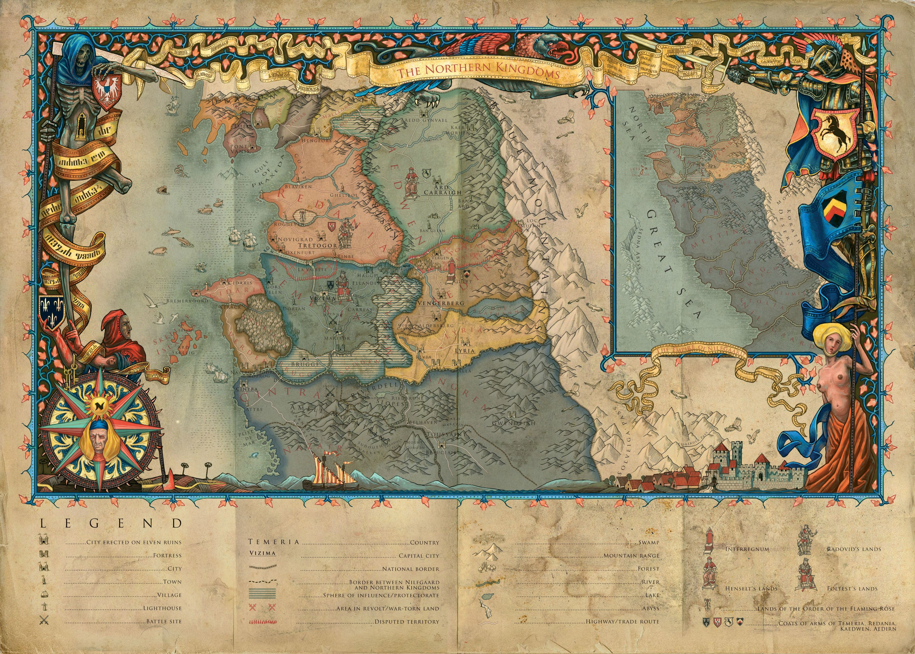 Witcher 3 Printable Maps New Is There A Plete Map Of The World Of The Witcher E That Shows