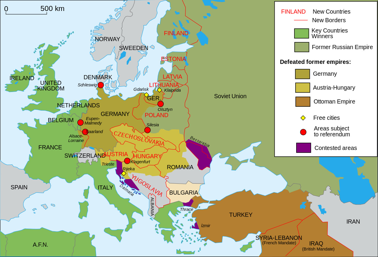 World War 1 Printable Map Luxury Territorial Changes In Europe After World War I Maps