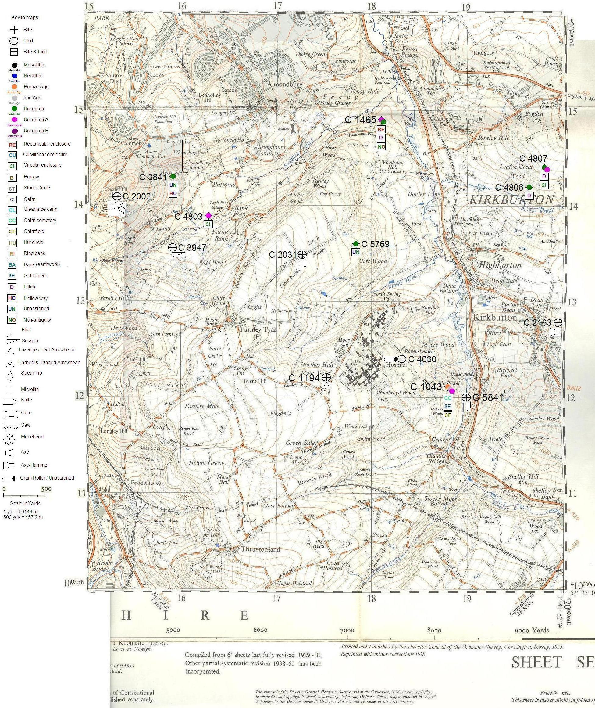 Yorkshire 3 Peaks Printable Map Inspirational An Investigation Of Prehistoric Settlement Patterns In The