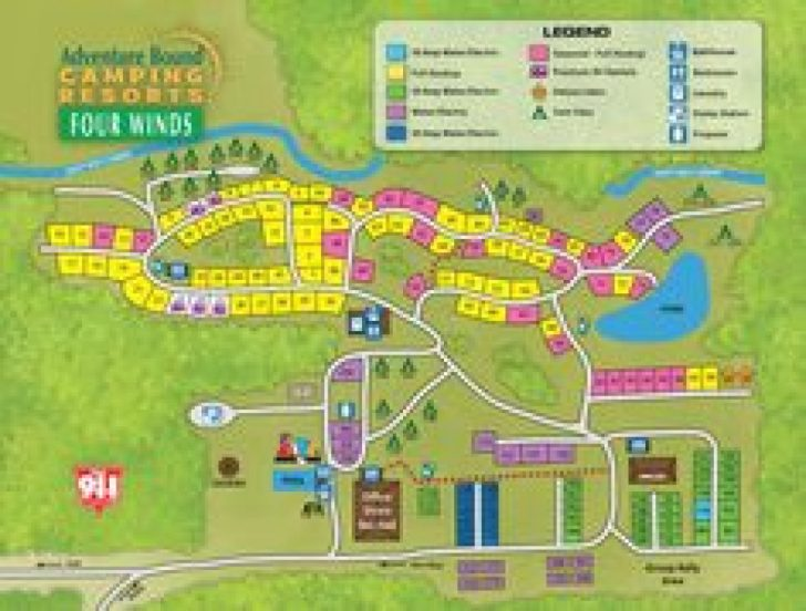 Letchworth State Park Camping Site Map