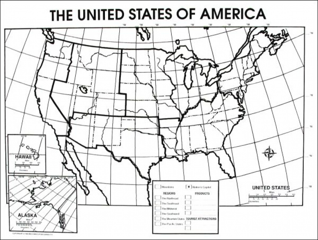 10+ Blank Map Of The United States Worksheet | Setsunarestaurant for United States Physical Map Worksheet