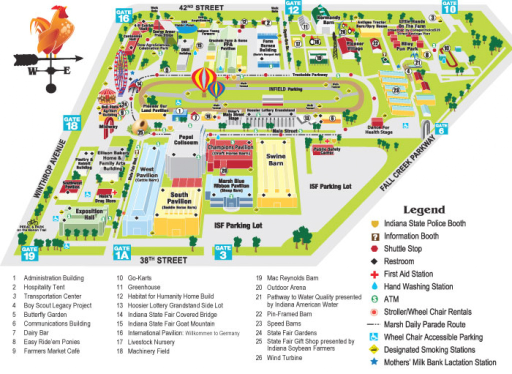 10+ Indiana State Fair Map | Wunderbarcovington regarding Indiana State Fair Map