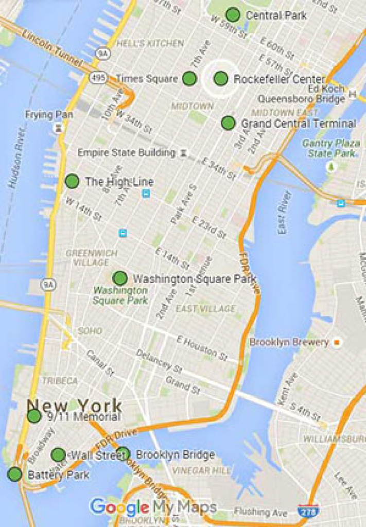 "10 ""must See"" Places To Visit In New York - Self-Guided Tour for New York State Landmarks Map"