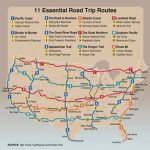 11 Essential Road Trip Routes In The U.s.   International Student In United States Road Trip Map