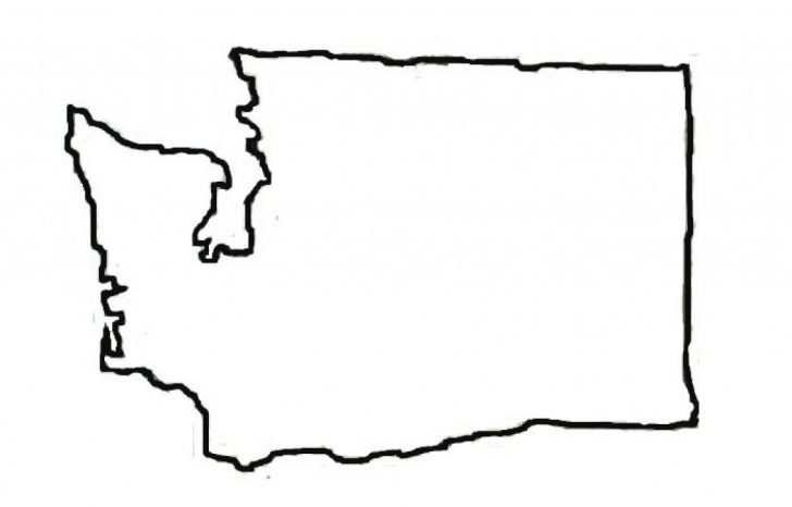 Washington State Map Outline