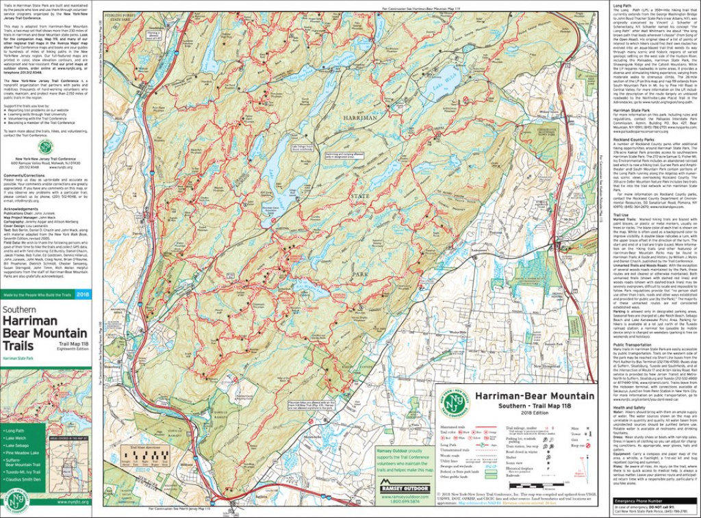 118 - Harriman-Bear Mountain (South) - 2018 - Trail Conference - New pertaining to Harriman State Park Trail Map