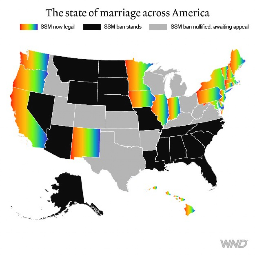 13 Judges Responsible For Same-Sex Marriage In 13 States within Map Of Gay Marriage States 2014