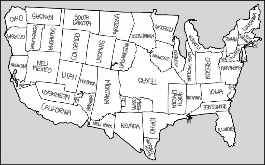 1653: United States Map - Explain Xkcd for Map Of The United States That You Can Fill In