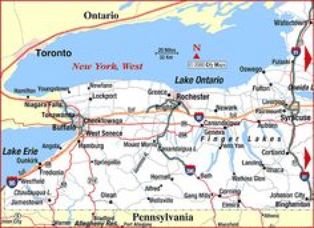 166 Best Road Maps Of The United States Images On Pinterest   Map Of within Road Map Of New York State And Pennsylvania