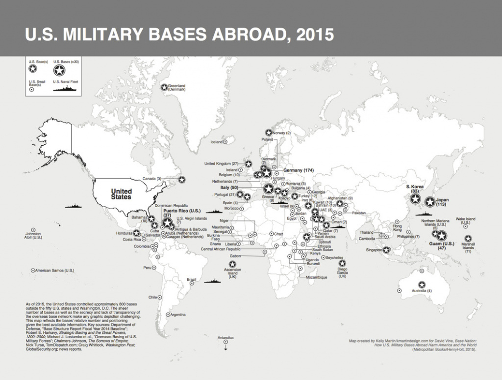 "17 Maps Of U.s. Military Bases Abroad From ""base Nation"" with United States Military Bases World Map"