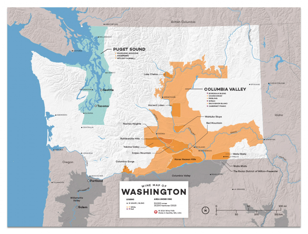 18 Washington Wines You Must Try | Wine Folly for Washington State Wineries Map
