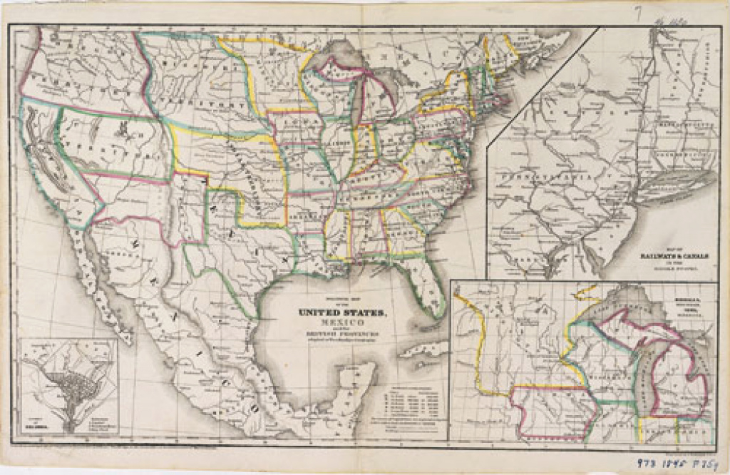 1845 Political Map - Set 2: Mapping The Land & Its People - Unit 1 pertaining to Map Of United States 1845