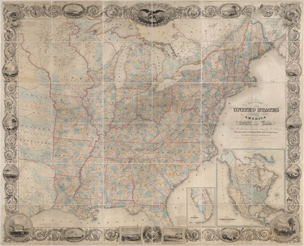 1845 United States - Majesty Maps & Prints for Map Of United States 1845
