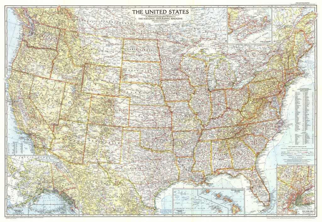 1956 United States Of America Map - Historical Maps in Geographic United States Map