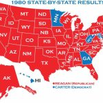 1980 Presidential Elections Regarding 1980 Presidential Election Results By State Map