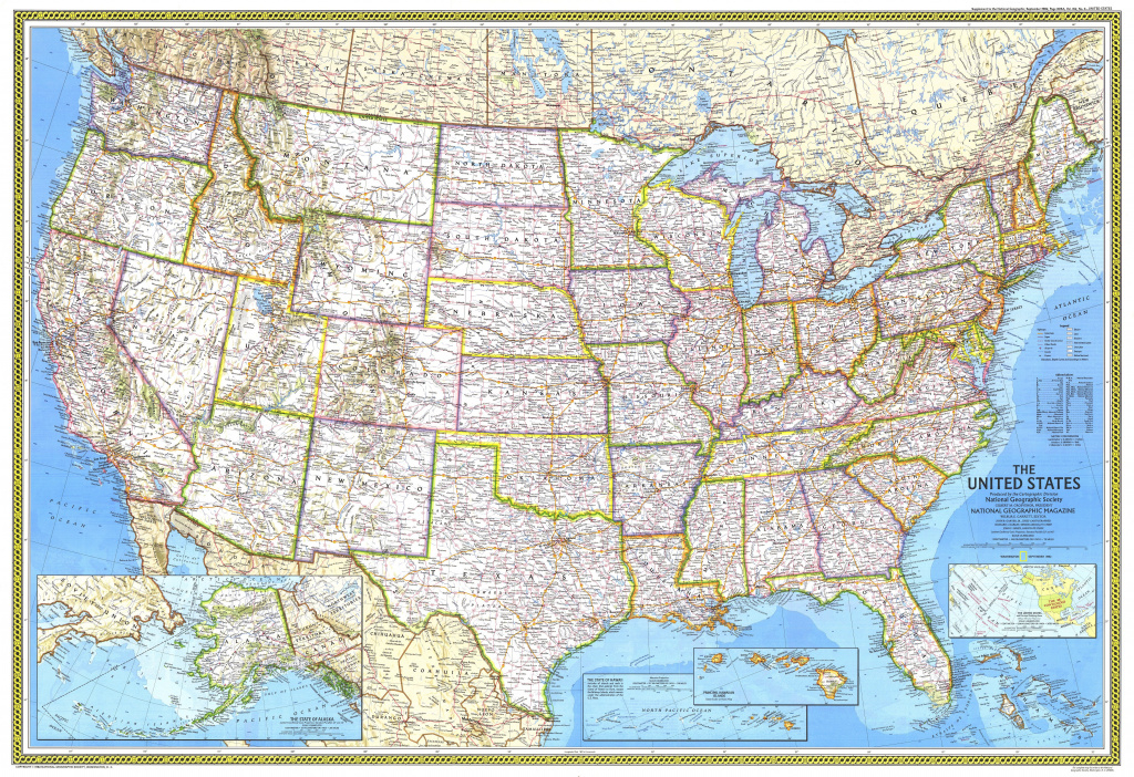 1982 United States Federal Lands Map - Historical Maps inside Geographic United States Map