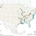2 Role Of The Inland Waterways System In National Freight In Navigable Waters Of The United States Map