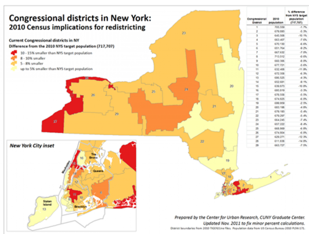 2010 Census Population For Nys Legislative Districts And Congress with regard to New York State Senate District Map