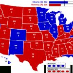 2012 Electoral Map: Barack Obama Wins | Political Maps With Regard To Red State Blue State Map 2012 Presidential Election