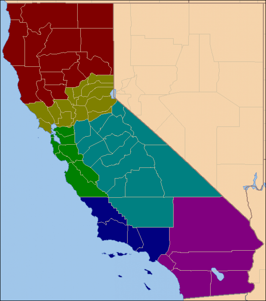 2012 Presidential Election With Six Californias - The Atlas Weblog inside Splitting California Into Two States Map
