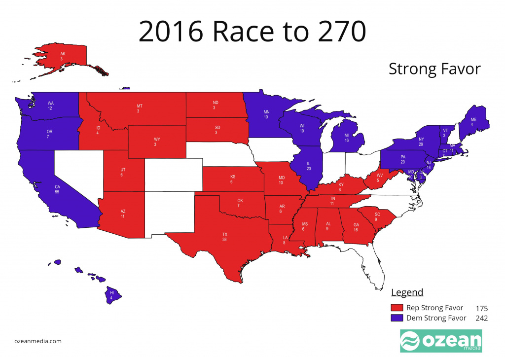 2016: The Path To 270 Part 1 pertaining to 2016 Electoral Map By State