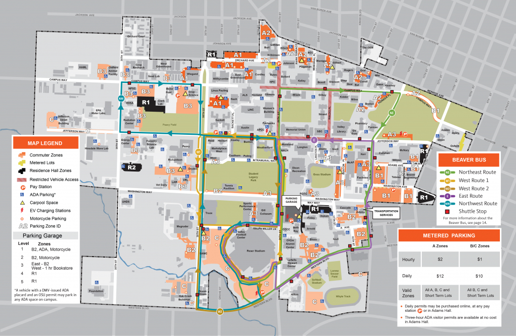 2018-19 Permit Sales Information | Finance And Administration in Ohio State Parking Map