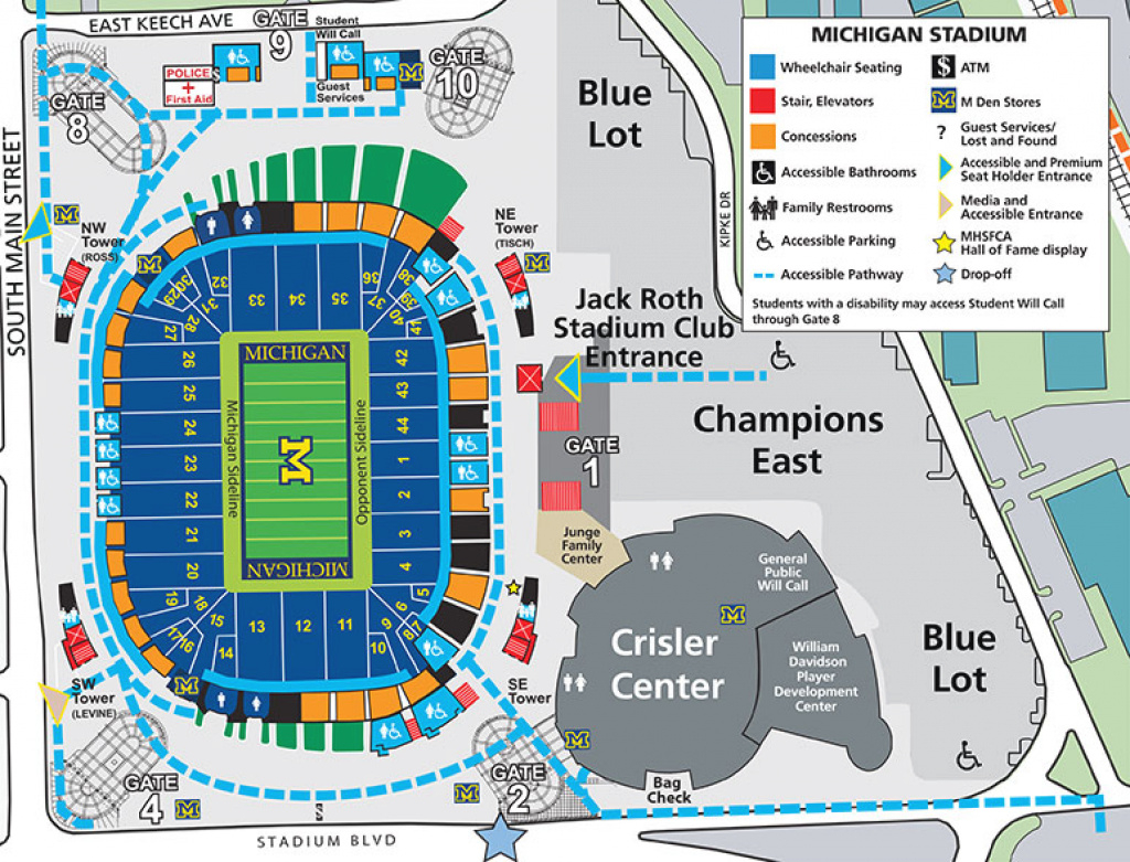 2018 Michigan Stadium Information - University Of Michigan intended for Michigan State Football Parking Lot Map